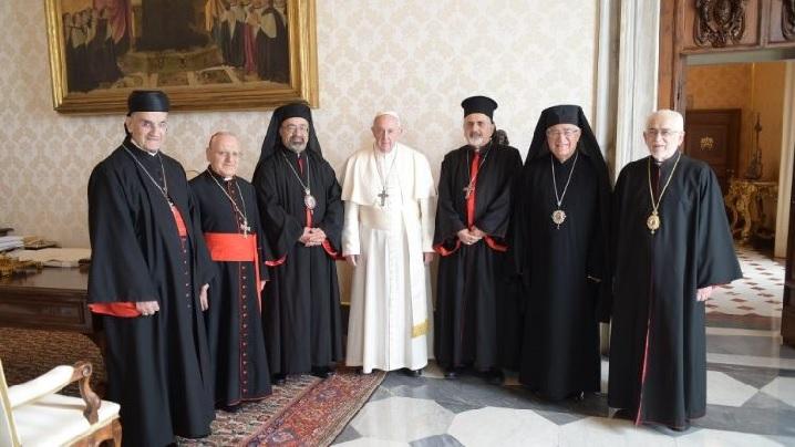 Papa Francisc a avut o întâlnire cu patriarhii catolici din Orientul Mijlociu