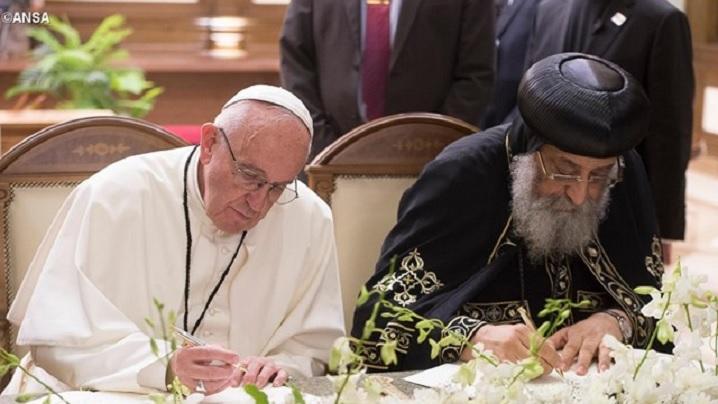 Declarație comună a Papei Francisc și a Patriarhului Tawadros II