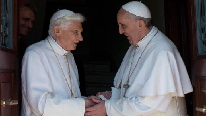 Papa Francisc l-a vizitat pe Benedict al XVI-lea