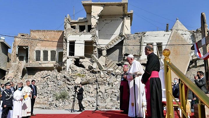 Papa Francisc la Mosul: Fraternitatea, mai puternică decât fratricidul!