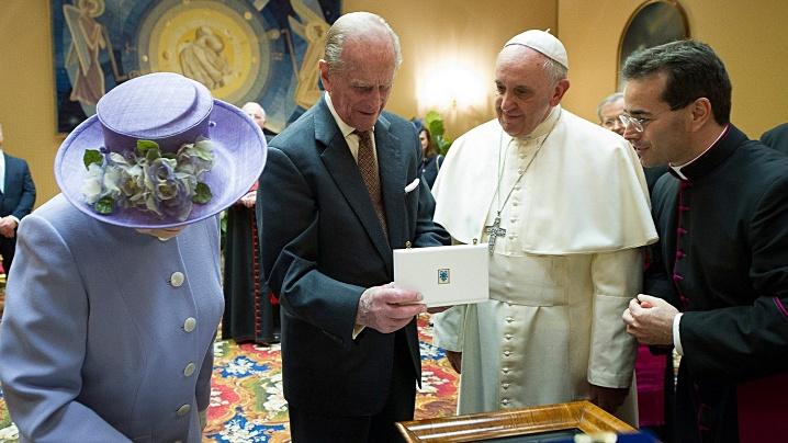 Condoleanțele papei Francisc la moartea prințului Filip, duce de Edimburgh