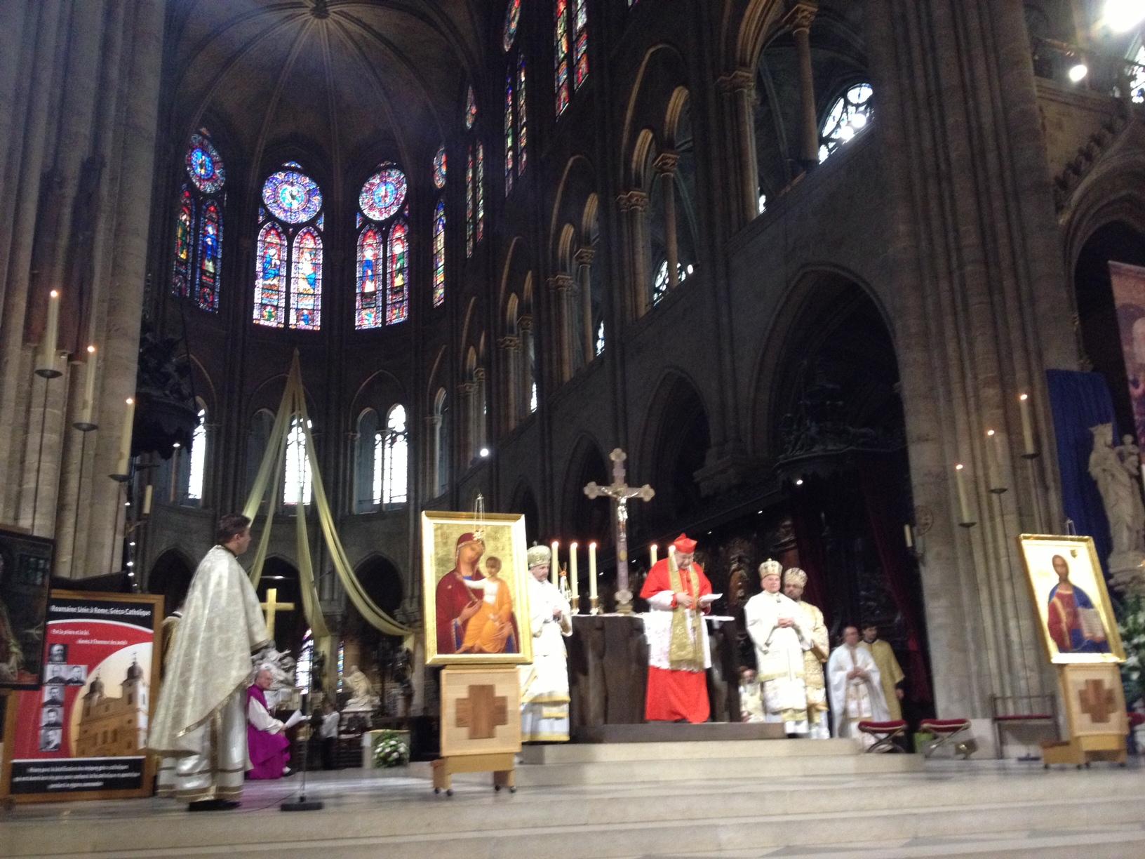 Sfânta Liturghie greco-catolică în Catedrala Parisului