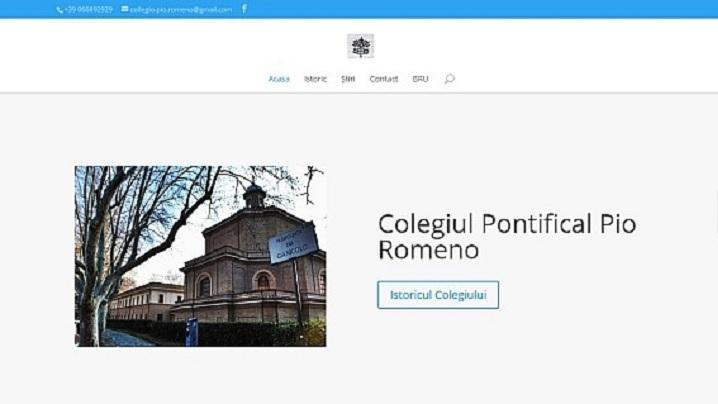 Haină nouă pentru situl Colegiului Pio Romeno