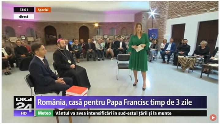 VIDEO: Ediție specială Digi24 dedicată vizitei Papei Francisc la Blaj