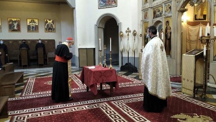 Rugăciuni de pomenire înălţate de comunitatea Colegiului Pio Romeno pentru Preasfinţitul Părinte Episcop Florentin, adormit în Domnul
