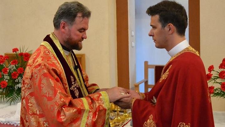 Diaconul George Nicoară, alumn al Colegiului Pontifical Pio Romeno, a fost hirotonit preot