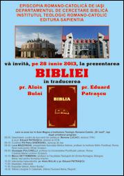 Iaşi: Prezentarea oficială a traducerii Sfintei Scripturi în limba română