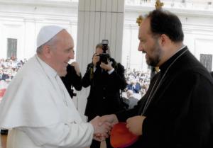 PS Mihai la Sfântul Părinte Papa Francisc