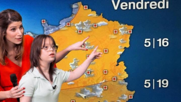 O tânără cu sindrom Down prezintă știrile meteo la TV