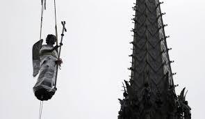 Statuia Sfântului Arhanghel Mihail va fi reinstalată pe Sainte-Chapelle