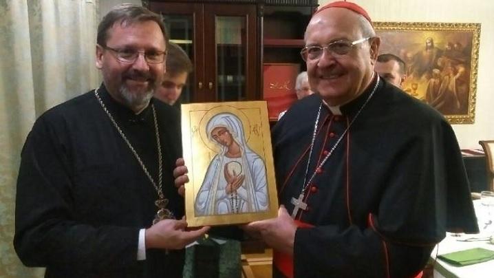 Cardinalul Sandri transmite greco-catolicilor ucraineni mesajul Papei