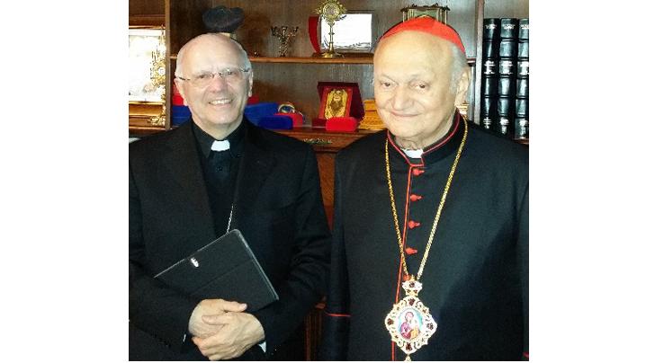 Secretarul Conferinței Episcopale Italiene în vizită la PF Cardinal Lucian