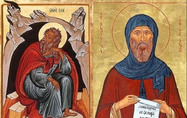 Sfântul Ilie și Sfântul Antonie cel Mare în monahismul creștin