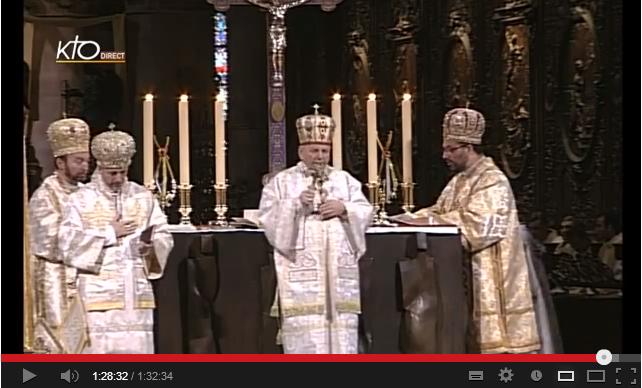 Sf Liturghie în Catedrala Parisului