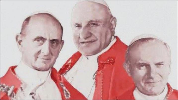 Trei papi sfinţi
