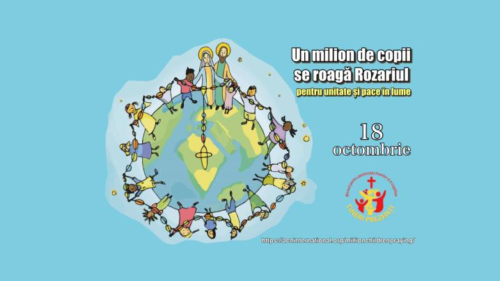 """Copiii din Eparhia de Cluj-Gherla invitați să se asocieze inițiativei """"Un milion de copii se roagă Rozariul"""""""