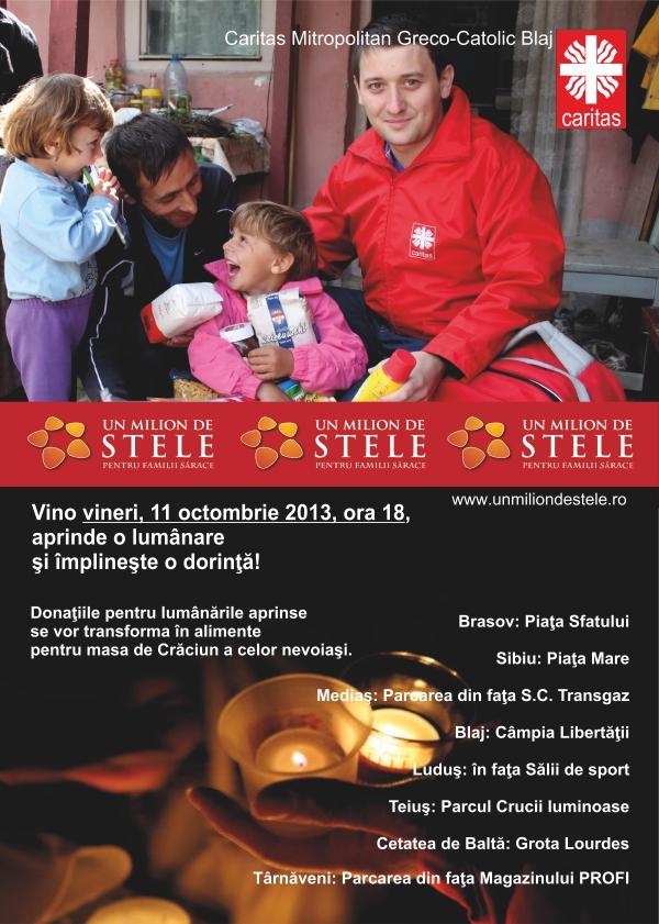 Vineri, 11 octombrie, România este luminată din nou de candelele solidarității