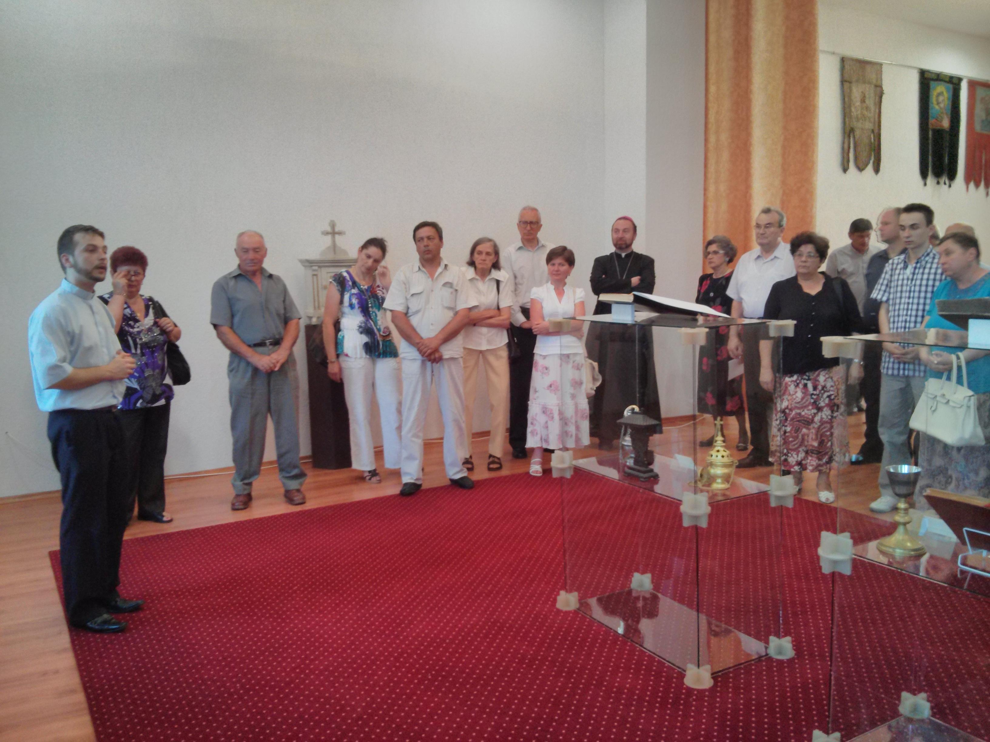 Alexandru Lupeanu-Melin omagiat cu ocazia vernisajului expoziției de obiecte de cult expuse la Curia Arhiepiscopiei Majore
