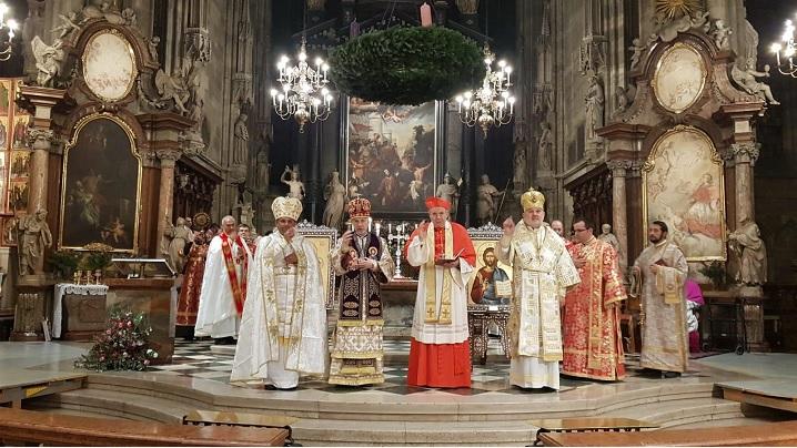 FOTO: Simpozion despre Biserica Greco-Catolică română și Sfânta Liturghie în domul Sfântul Ștefan din Viena