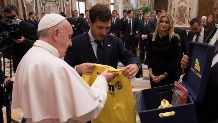 Echipa de fotbal Villarreal (Spania), în audiență la Papa Francisc