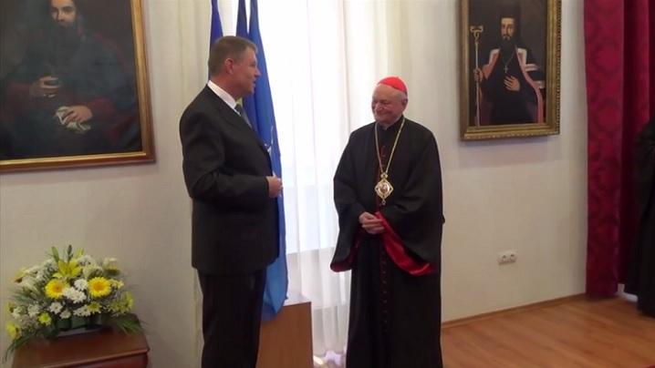 Vizita Președintelui României la sediul Curiei Arhiepiscopului Major